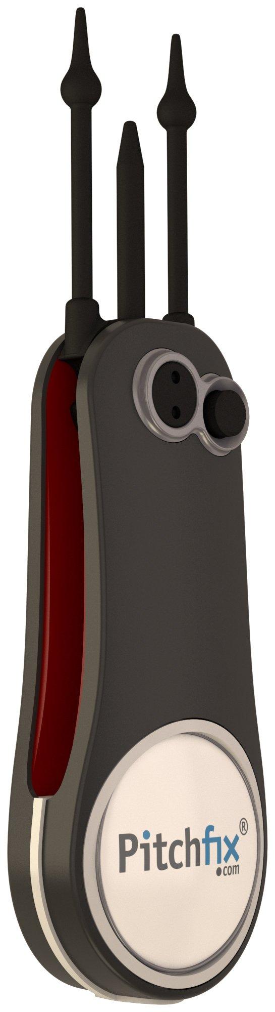 Pitchfix Fusion 2.5 Pin, Gun/Red by Pitchfix