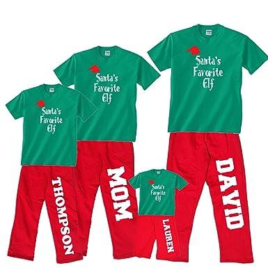 Personalized Christmas Pajamas Kids.Amazon Com Footsteps Clothing Santa S Favorite Elf