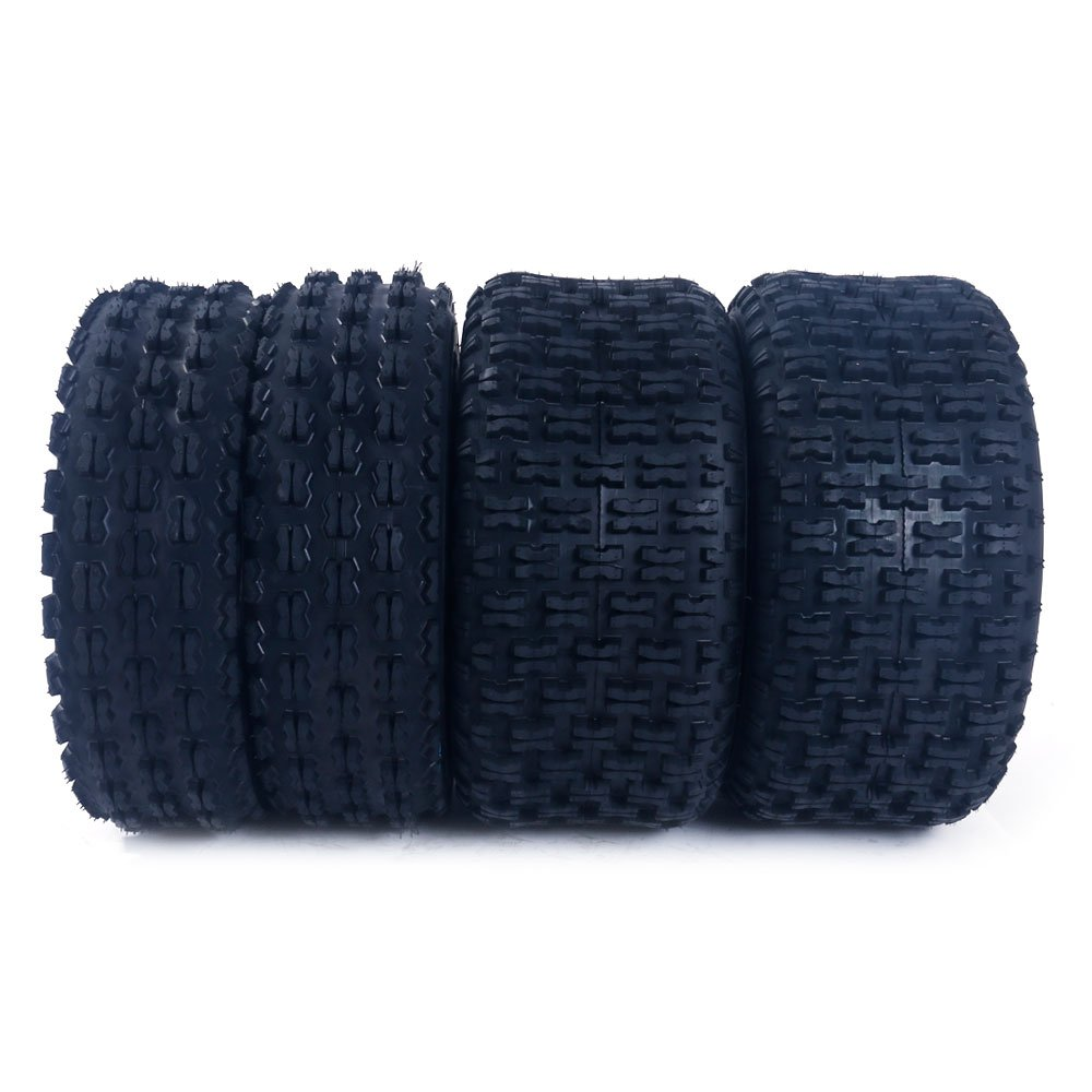 Set of 4 ATV Tires 22x7-10 Front & 22x10-10 Rear 4 Ply Rated