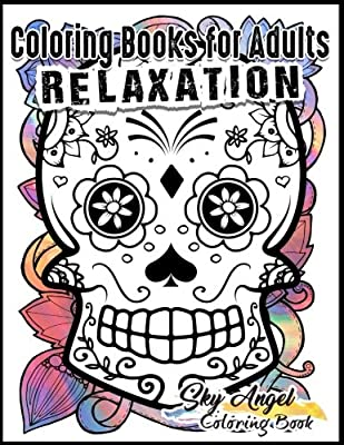 Coloring Books for Adults Relaxation: Sugar Skull Designs: Dia De ...