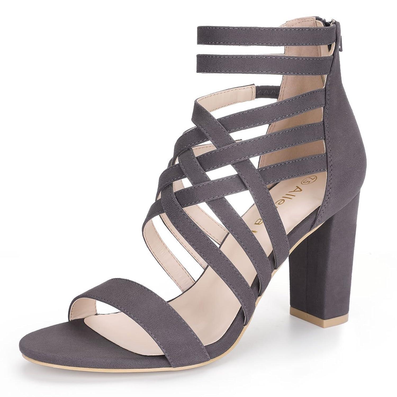 Allegra K Women's Block Heel Strappy Sandals