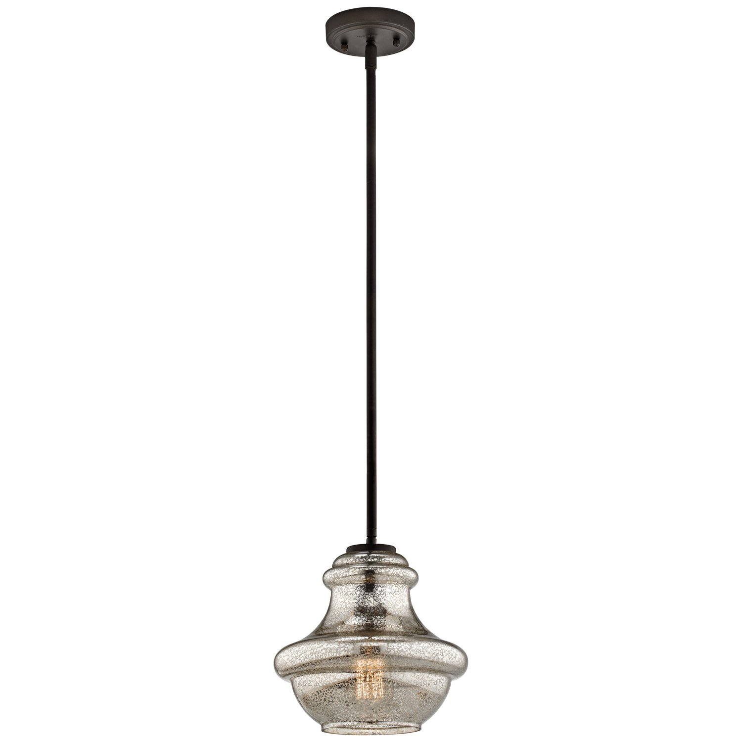 glass brushed dp everly com mercury pendant amazon kichler light nickel