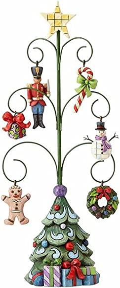 Enesco Jim Shore Heartwood Creek Christmas Tree 6 Mini Ornaments