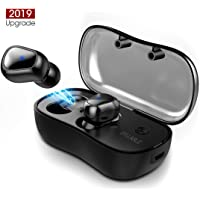 Bluetooth Headphones,Syllable Bluetooth 5.0 True Wireless Earbuds IPX5 Sweatproof Sports Headsets,Physical Noise Reduction Stereo Earpods with Built-in Mic Hi-Fi for Iphone with Portable Charging Case