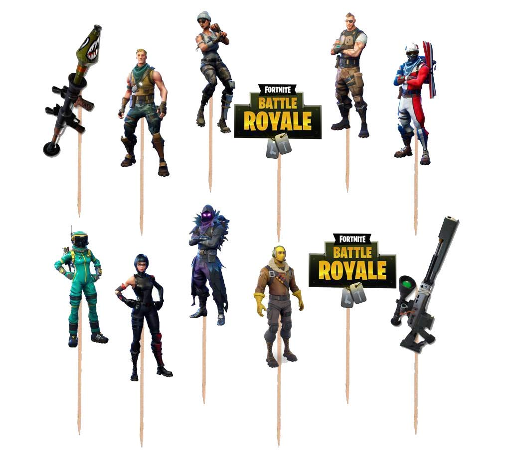12pc Fortnite Fortnite Cupcake Toppers Birthday Party Latex Balloons balloon DCBY