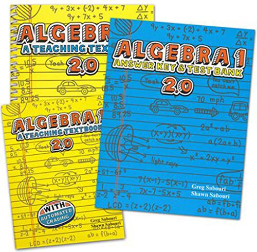 Teaching Textbooks Algebra 1 Complete Set 2.0