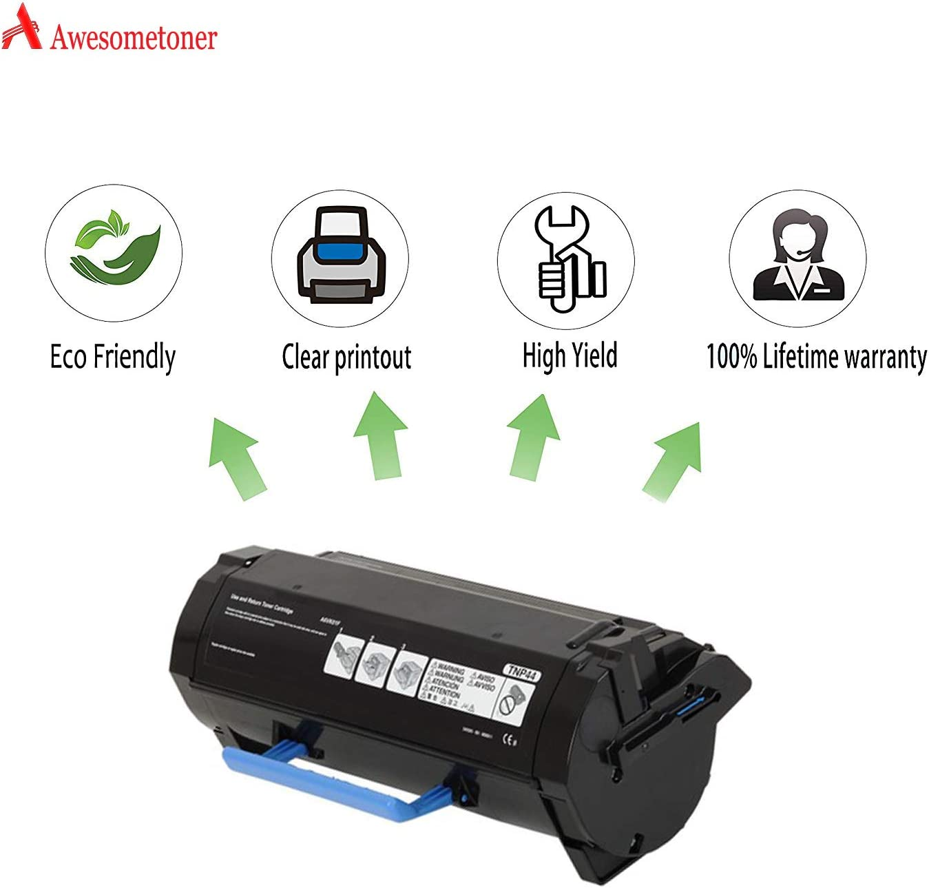 4750 Black, 2-Pack Awesometoner Compatible Toner Cartridge Replacement for Konica Minolta TNP44 TNP46 A6VK01F A6VK01W MICR use with BizHub 4050