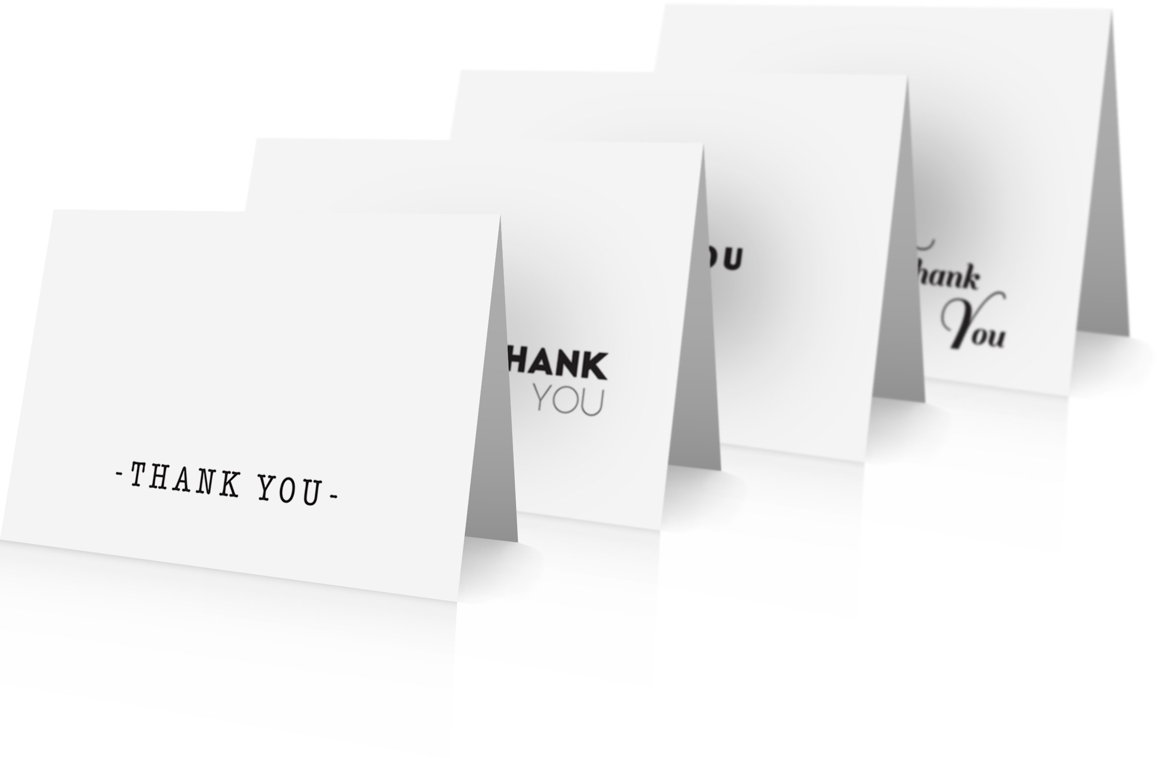 Simple Classic Thank You Cards - (24) Bulk Thank You Note Cards with Envelopes