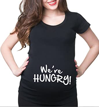 bd27b5c325 HappyBerry Women Maternity T Shirt Funny Graphic Tee Cute Tops for Pregnancy  (Small, Black