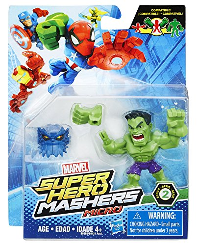 "Marvel Super Hero Mashers Micro Series 2 Hulk 2"" Action Figure"