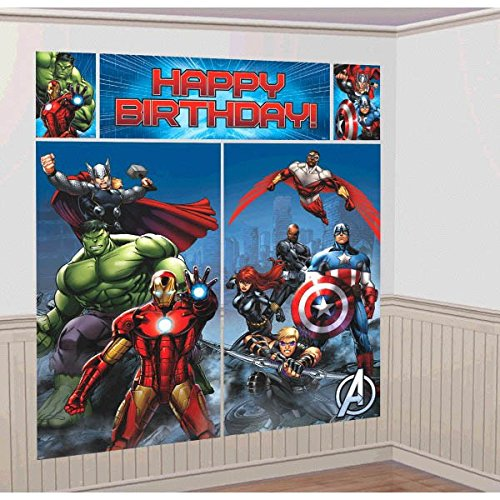 5-Piece Avengers Scene Setter Set, Multicolored - Giant Paper Bag Costume