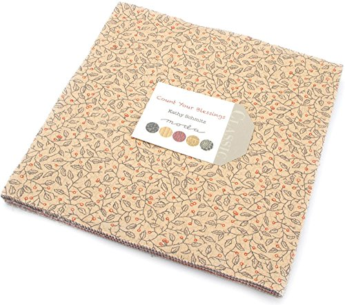 Count Your Blessings Layer Cake, 42-10'' Precut Fabric Quilt Squares By Kathy Schmitz by MODA