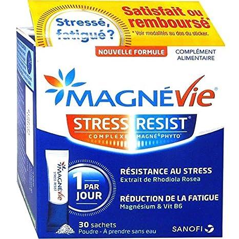 Sanofi magnévie Stress Résist – Magnesio Vit B6 y rhodiola Rosea – polvo para disfrutar sin