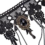 FASHEWELRY Choker Lace Necklace Gothic Vintage Necklace Pendant Wedding Party Jewelry 8
