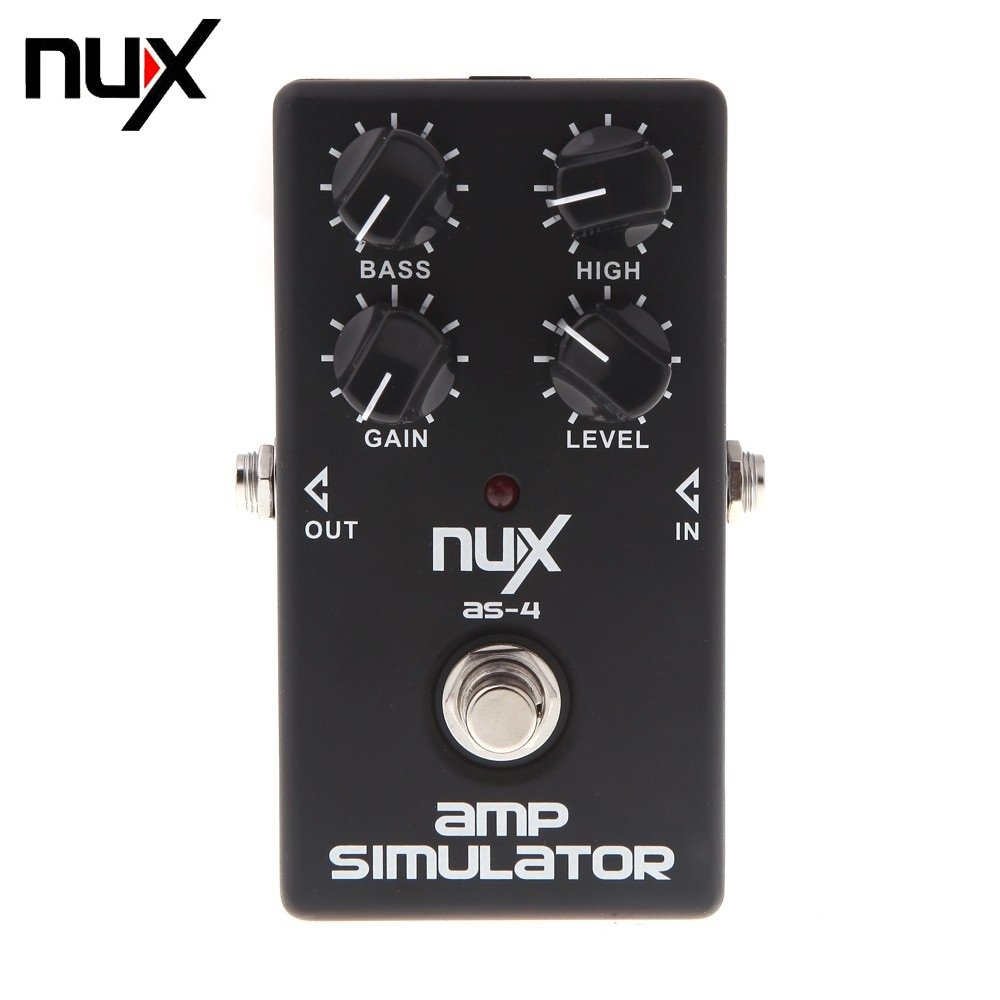 Twinbuys NUX AS-4 Amplifier Simulator Guitar Electric Effect Pedal True Bypass Black