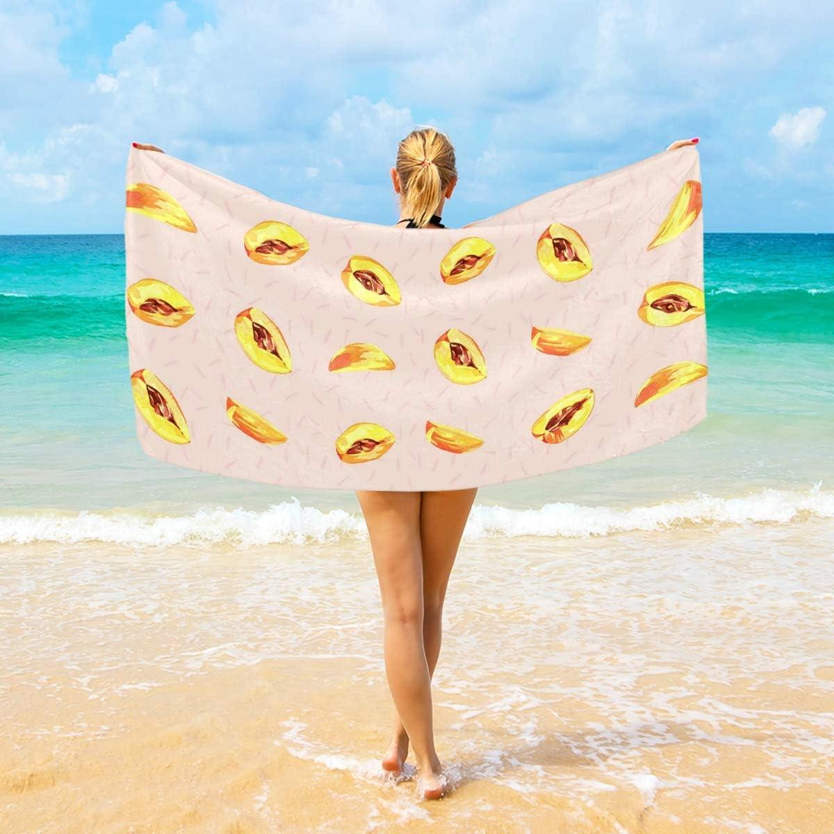 "Microfiber Beach Towel Large  Oversized Towels Best 74/""X74/""Beach Blanket"