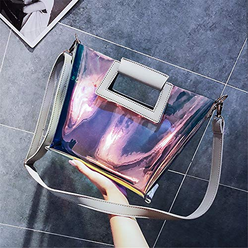 Jelly Transparent con Borsa in mobile borsa Saoga grigio oro a Package Bag tracolla laser qEISpd