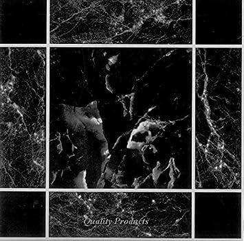 VinylAufkleber MarmorEffekt FliesenOptik Selbstklebend - Schwarz marmorierte fliesen
