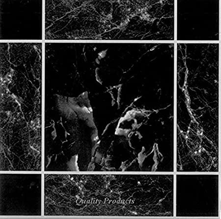 50 X Black Marble Effect Self Adhesive Stick On Vinyl Floor Tiles