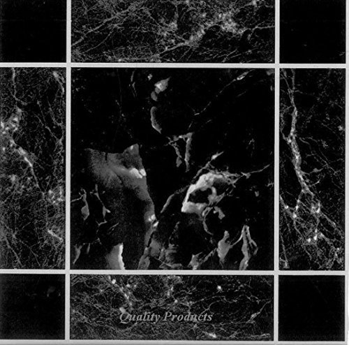 50 x BLACK MARBLE EFFECT SELF ADHESIVE STICK ON VINYL FLOOR TILES - KITCHEN BATHROOM L-FENG-UK