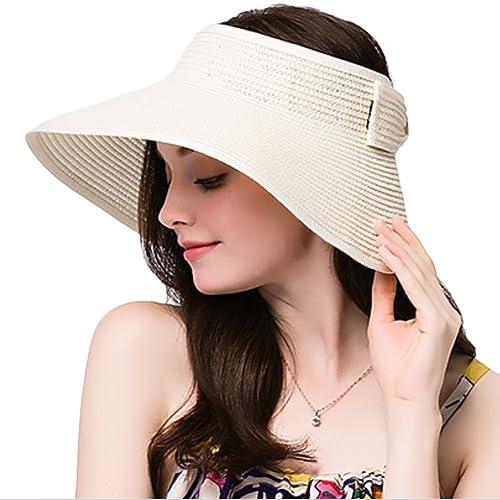 Leisial Mujer Sombrero Sol Gorro Ancho De Sol Color Sólido Diseño Elegante Del Bowknot Casquillo De ...