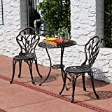 Sunnydaze 3-Piece Copper Outdoor Cast Aluminum Patio Bistro Set