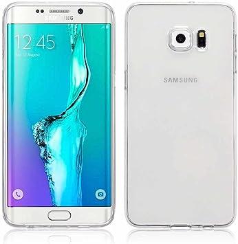 REY Funda Carcasa Gel Transparente para Samsung Galaxy S6 Edge ...