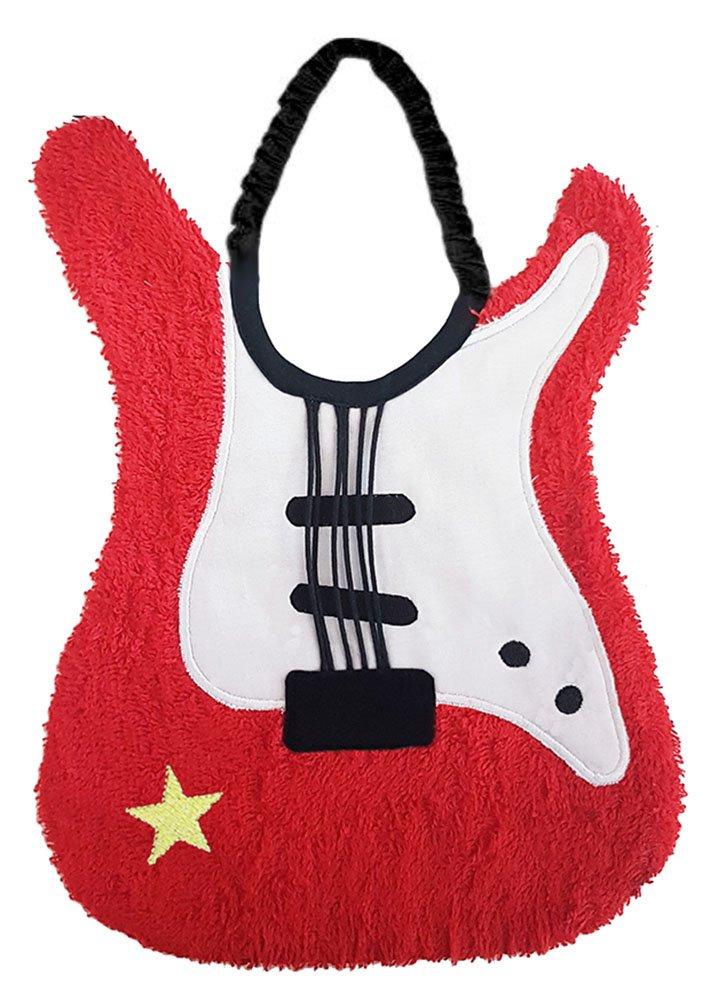 Zigozago - Baby Bib GUITAR - Tie: Elastic - One Size