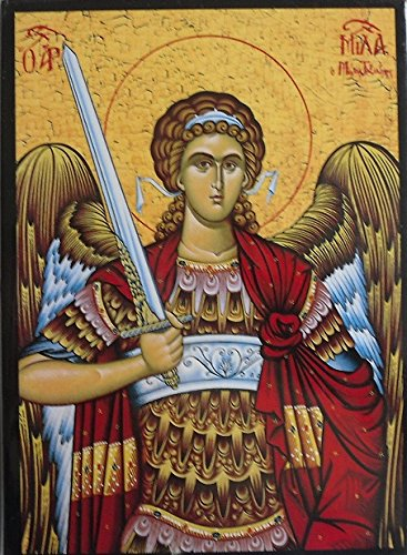 st michael religious icon wooden greek icon saint michael the