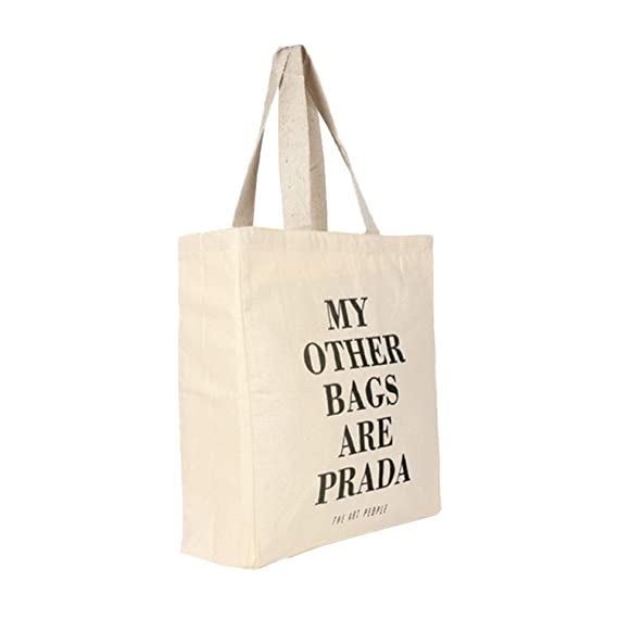 90fa5ffad781e0 My Other Bags are Prada Tote Bag Reusable Grocery Bag Machine Washable  Canvas Shopping Bags with Long Handy Straps – Eco Friendly Reusable Bags  for Book ...