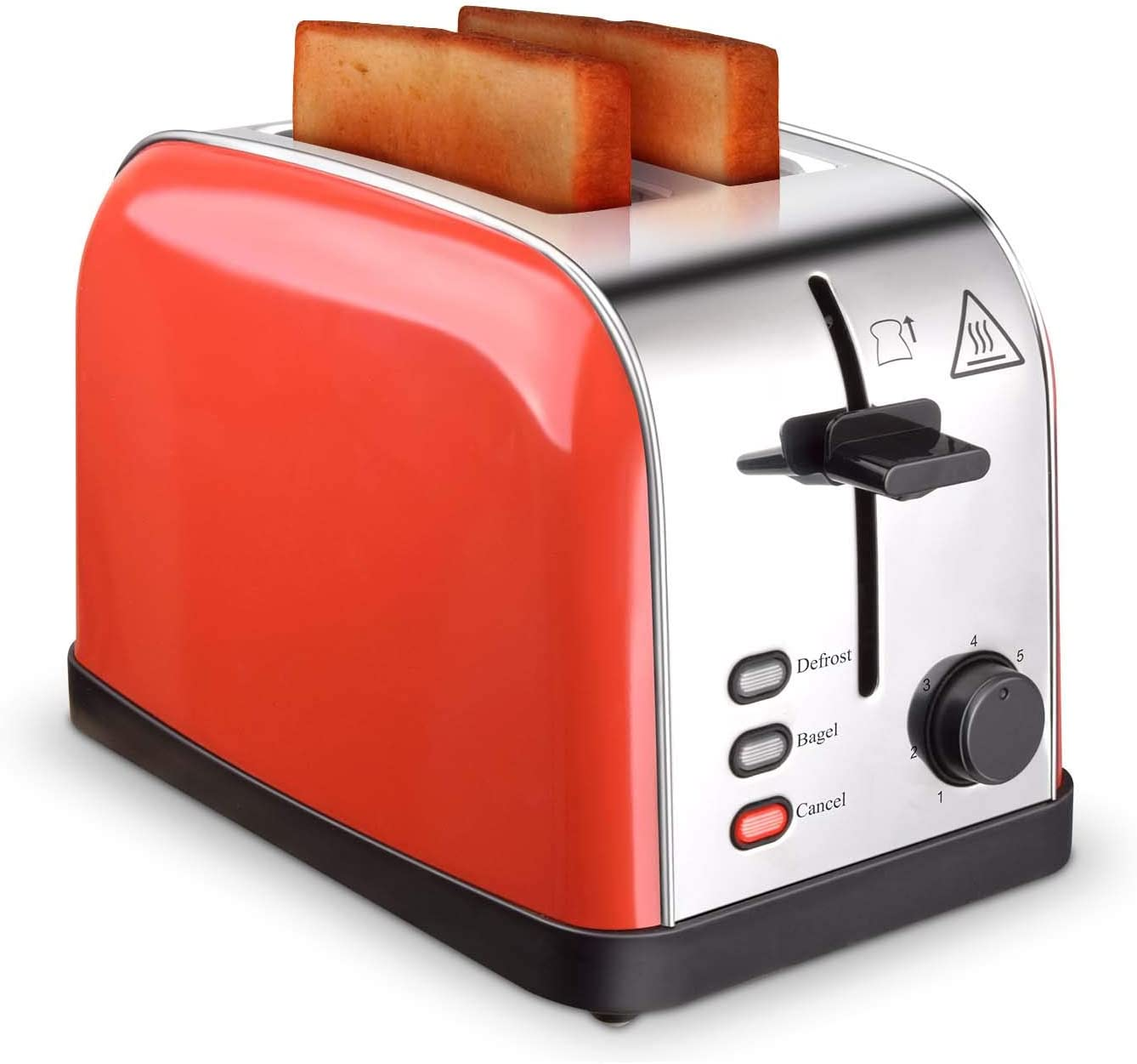 Toaster 2 Slice Toasters Best Rated Prime Extra Wide Slots Compact Stainless Steel with Defrost Reheat Cancel Button High Lift Lever Toaster's Removable Crumb Tray Quickly Toast for Bread&Bagel