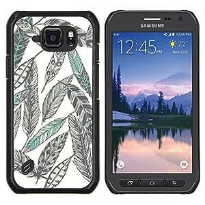 Eason Shop / Premium SLIM PC / Aliminium Casa Carcasa Funda Case Bandera Cover - Dibujo al lápiz Arte Verde - For Samsung Galaxy S6 Active G890A