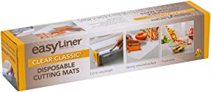 Duck EasyLinerDisposableCustom-Cut Surface Protection Mats for Food Prep, Crafts, Other, Clear, 1-Roll, 12 in. x 20 ft.