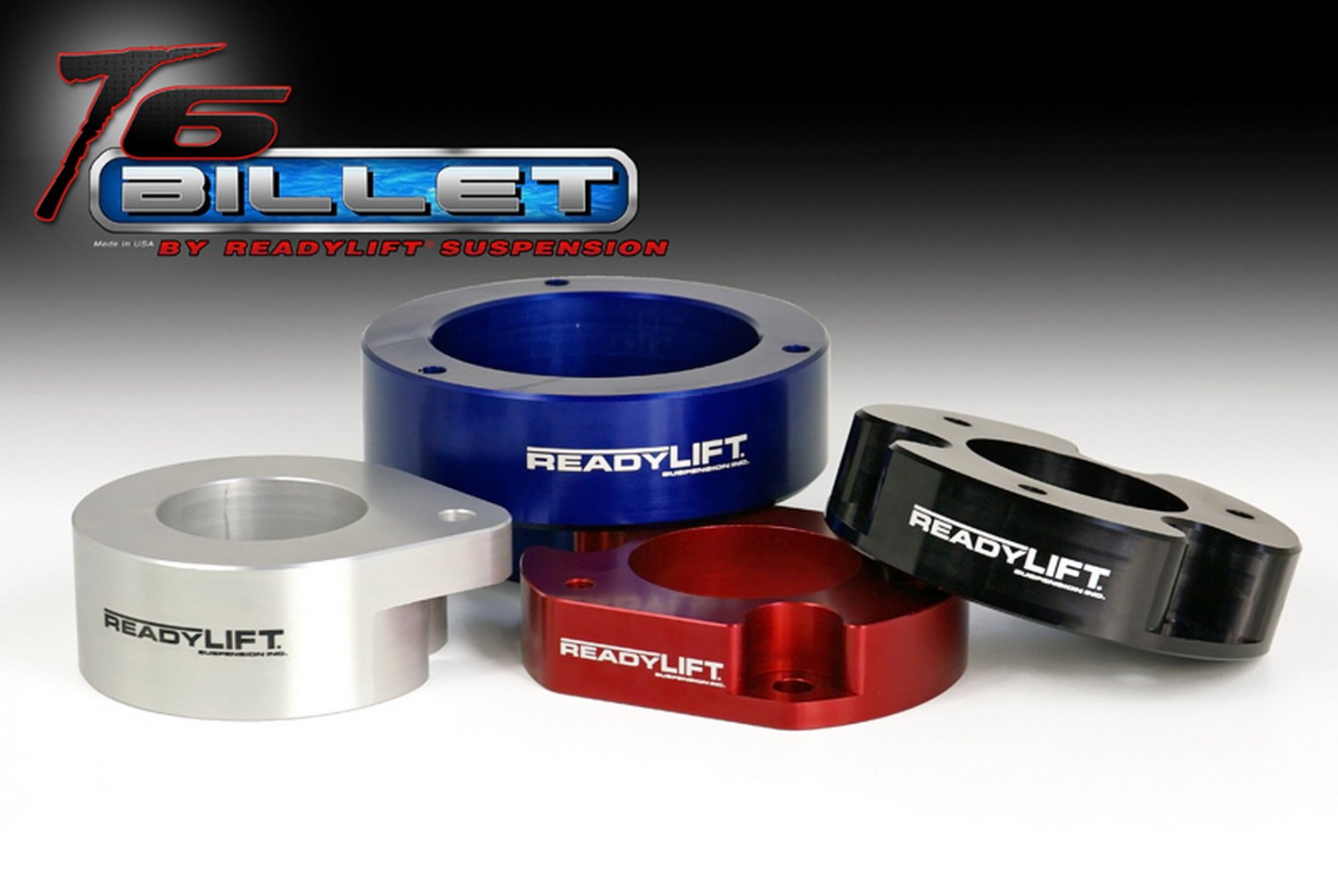ReadyLift T6-6091R T6 Billet Red 1.5 Leveling Kit with Coil Spring Spacer for Jeep JK Wrangler