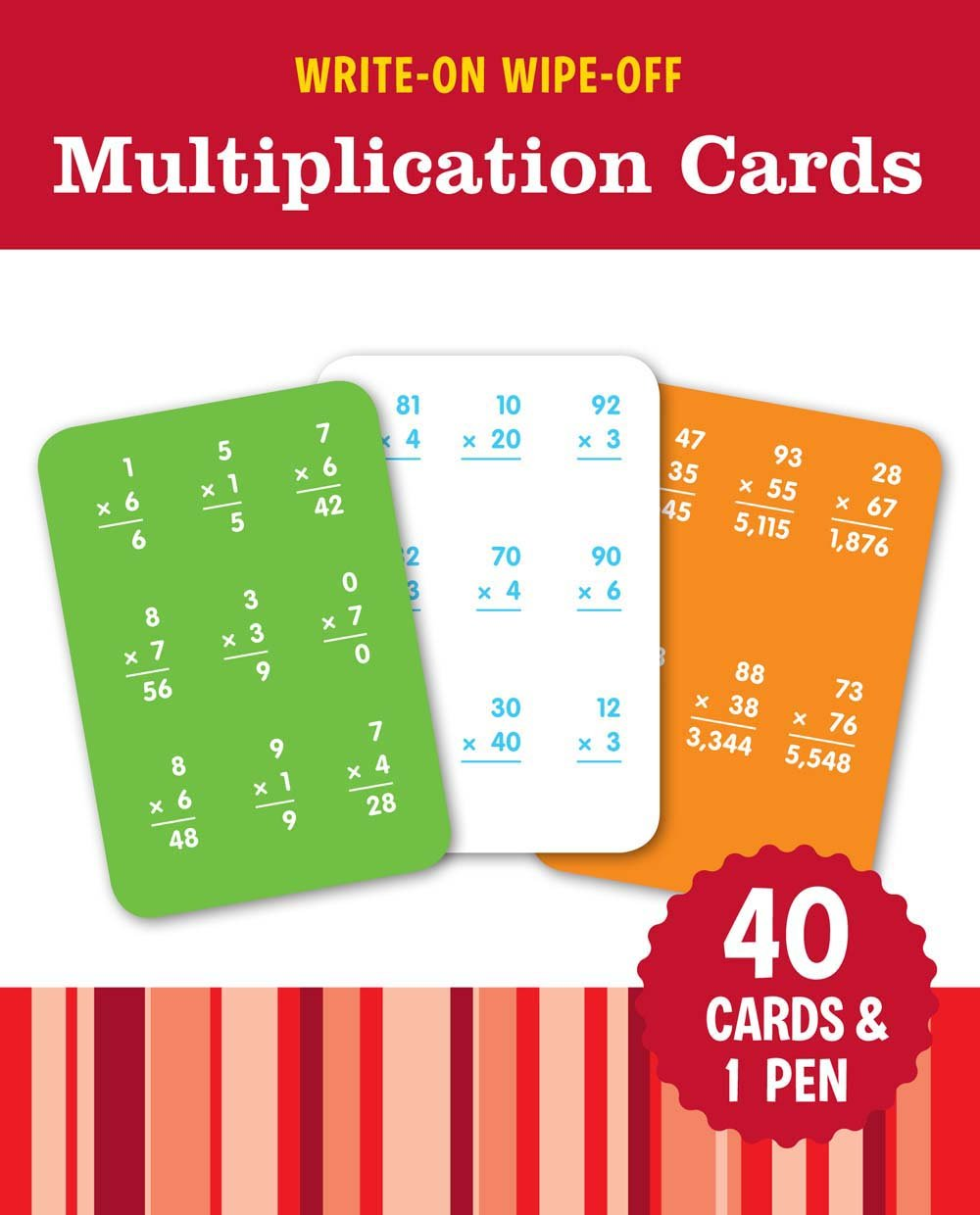 Download Write-On Wipe-Off Multiplication Cards (Write-On Wipe-Off Learning Cards) pdf epub