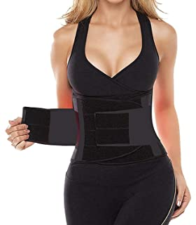 90a3f4720e6f7 SHAPERX Waist Trainer Belt Body Shaper Belly Wrap Trimmer Slimmer  Compression Band for Weight Loss Workout