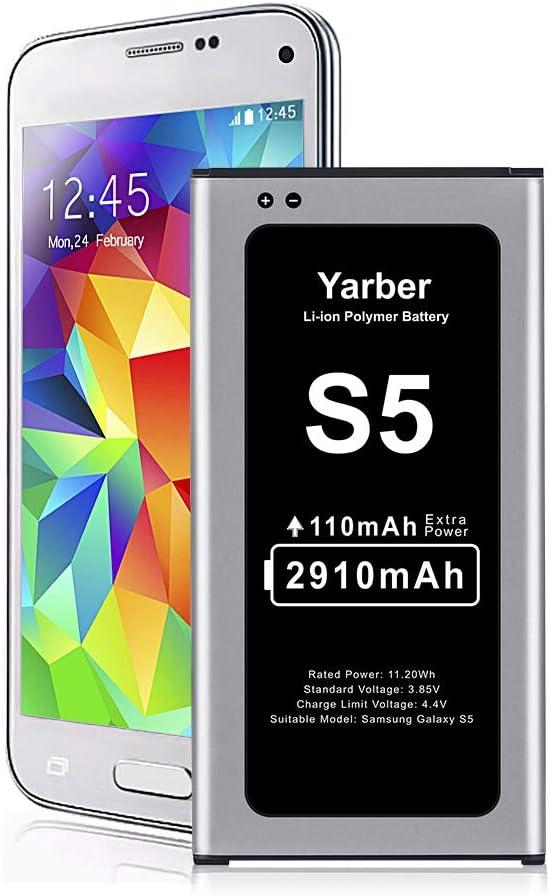 Batería para Samsung Galaxy S5, 2910mAh de Alta Capacidad Reemplazo de Ion de Litio Compatible con Original Samsung Galaxy S5 batería(No para S5 Mini)