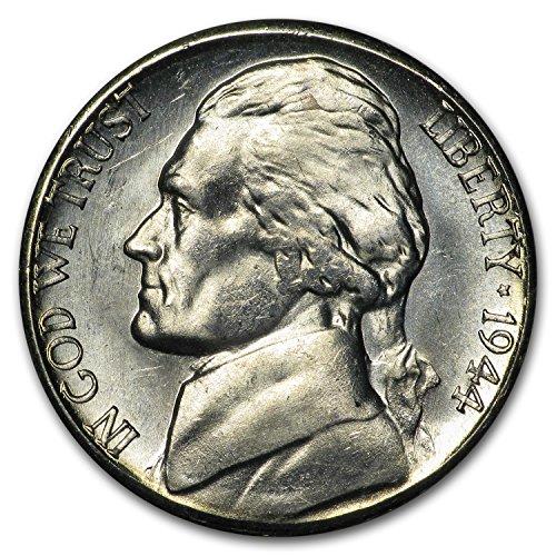 1944 S Silver Jefferson Nickel BU Nickel Brilliant Uncirculated
