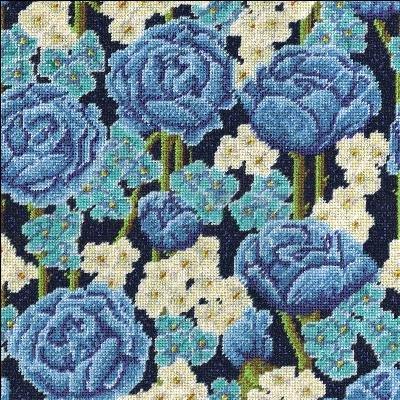 Design Works Crafts 2620 Blue Roses 12