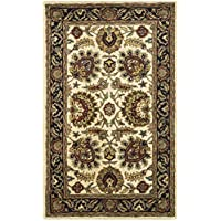 Safavieh Classic Collection CL359E Handmade Traditional Oriental Ivory and Navy Wool Area Rug (3 x 5)