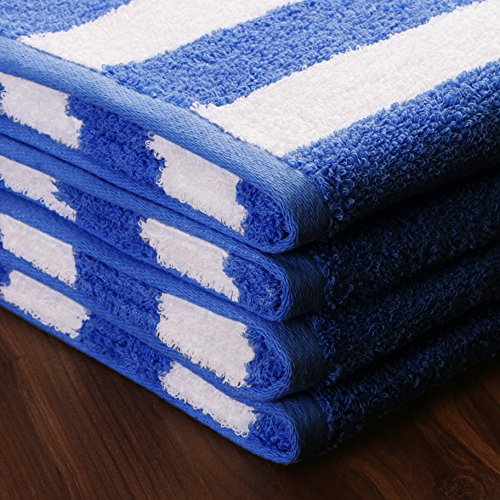 Utopia Towels Cotton Large Hand Towel Set (4 Pack, Stripe Blue - 16 x 28 Inches) - Multipurpose Bathroom Towels for Hand, Face, Gym and Spa by Utopia Towels (Image #2)