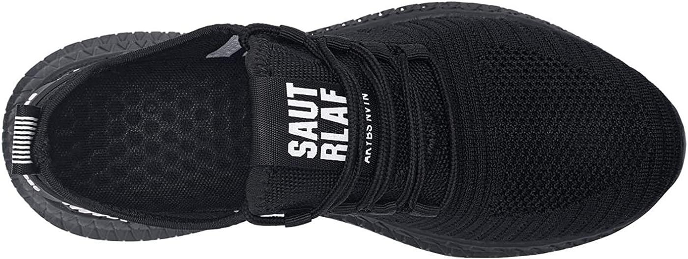 Zapatoes de Seguridad Hombre Zapatos de Trabajo Zapatillas con Punta de Acero C/ómodos Ligeros y Transpirables
