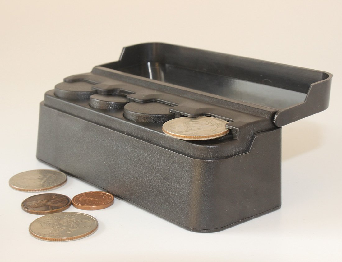 Black Car Coin Holder - Mini Coin Organizer - 4 Slots For Each Coin Type (2 Pack) by LiveOut (Image #5)