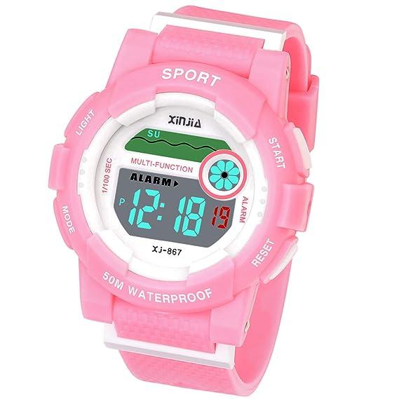 Reloj Digital para niños y niñas, Resistente al Agua, Reloj de Pulsera Digital con