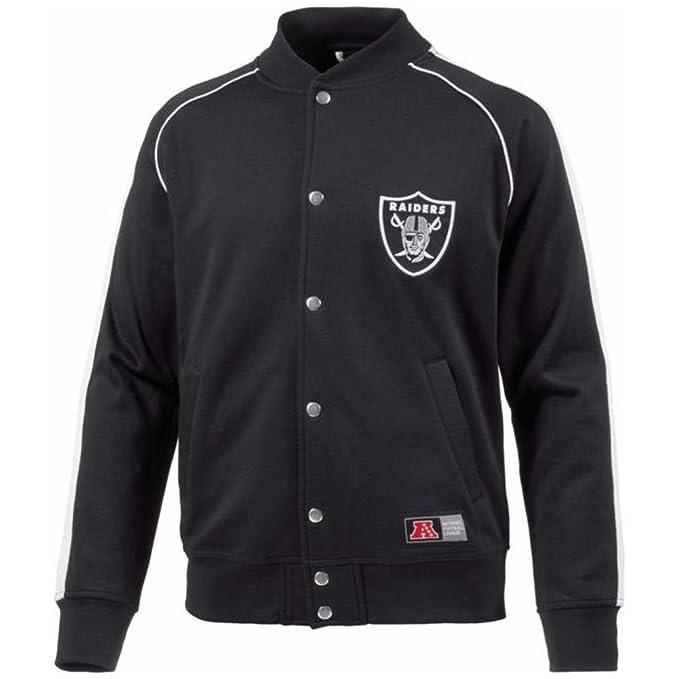 Chaqueta Majestic: Letterman Jacket Oakland Raiders BK XL ...