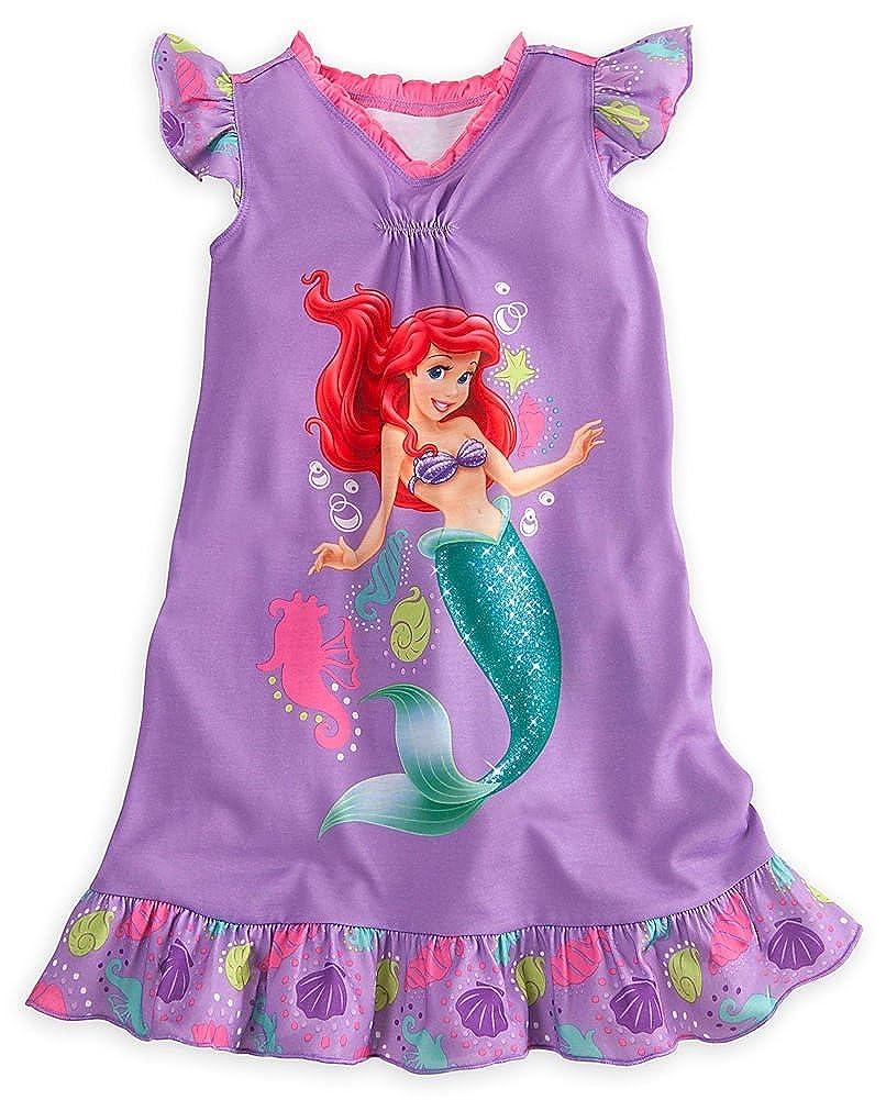 Disney Store Princess Ariel Little Mermaid Nightgown Nightshirt Size Medium 7//8