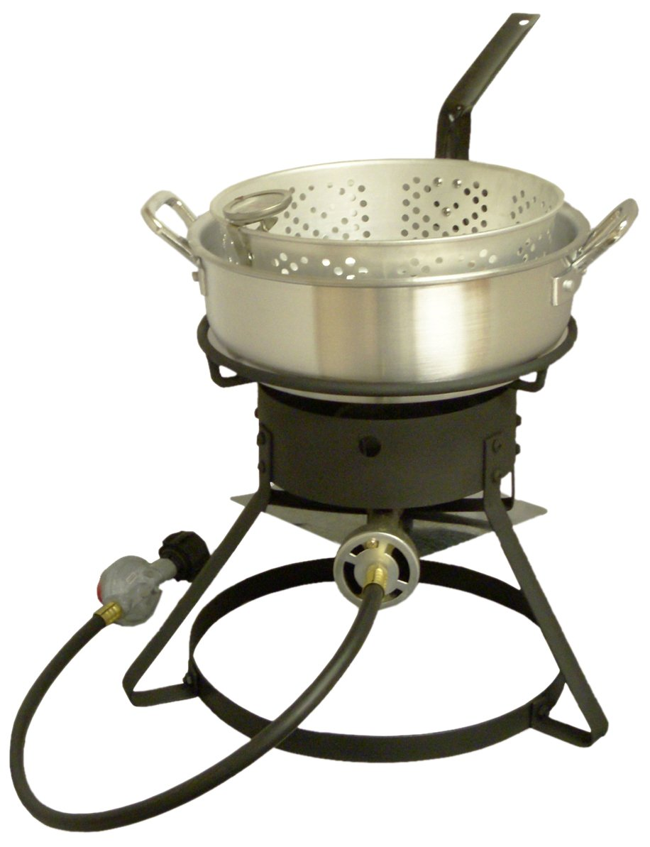 King Kooker 1212 12-Inch Bolt Together Outdoor Propane Cooker Package with Aluminum Fry Pan by King Kooker
