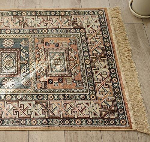 옥내 실내복 기리무 병 현관 매트 로얄 팰리스 14684 오렌지 사이즈 약 67х105 cm 접이식 가능 카펫트
