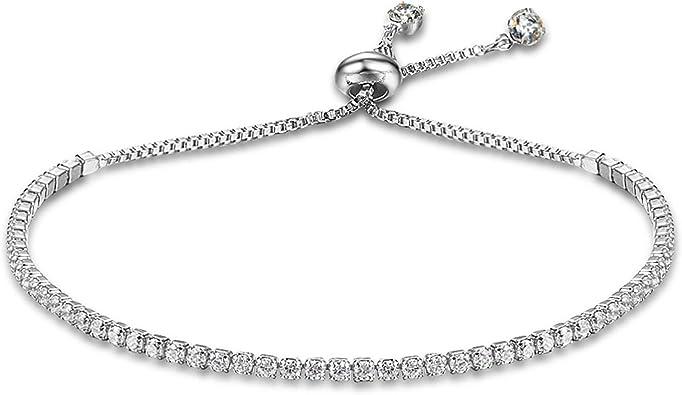 Femme Cristal blacelets Fashion Tennis Bracelet Bracelets cadeau d/'anniversaire réglable