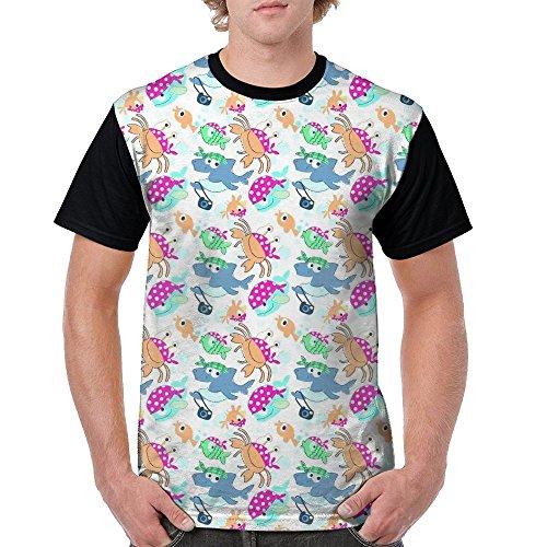 Hermit Crab Costume (Rainbow Hermit Crab T-Shirts Tee Shirt For Men Tops Costume Round Black)